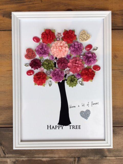 幸せのなる木 たくさんの花を咲かせる インテリアパネル