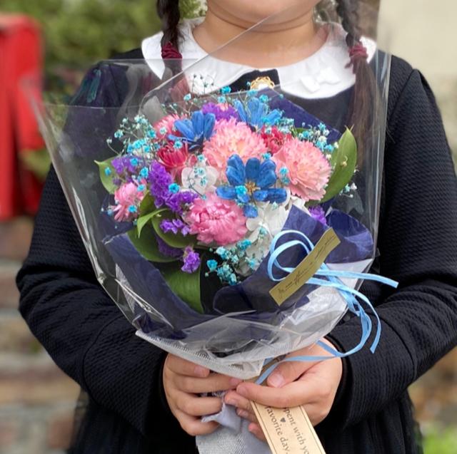 カラフルドライフラワーブーケ 花束 ママへプレゼント