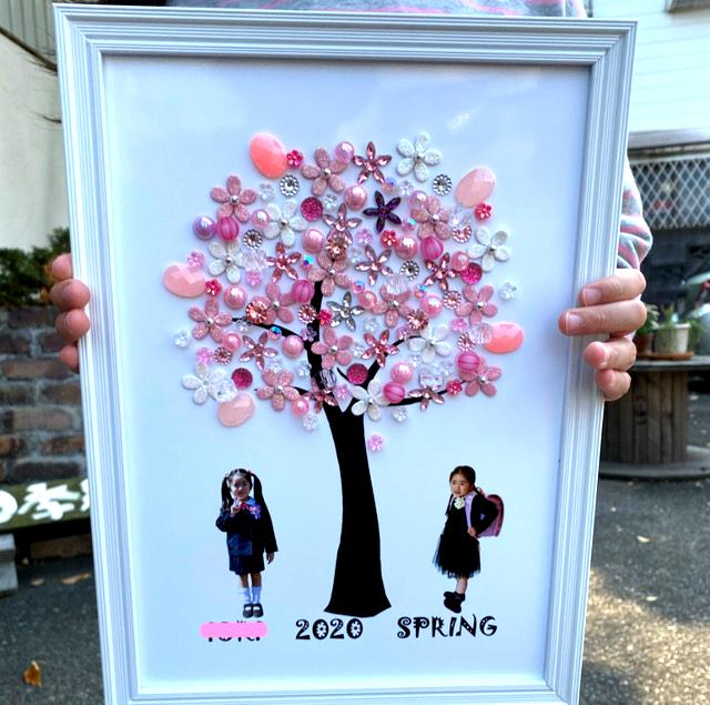 卒園・入学記念桜インテリアになる写真パネル