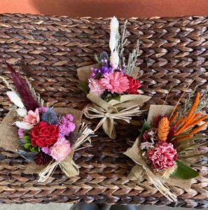 小さなドライフラワー花束種類