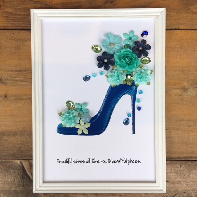 青い靴 青いハイヒール 憧れの靴 いい靴はいいところへ連れて行ってくれる