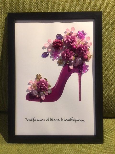 紫の靴 紫のハイヒール 癒しの靴 女性らしい色 いい靴はいいところへ連れて行ってくれる